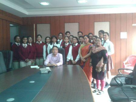 Visit to Gauhati Municipal Corporation( GMC)  Commissioner's office by Interact Club.