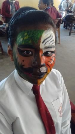 All Guwahati Inter School Clay Modelling and Face Painting Competition held at Gurukul Grammar Senior Seconday School